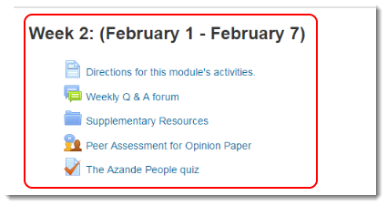 Now the Quiz displays on your course main page.