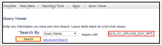 Query Viewer section