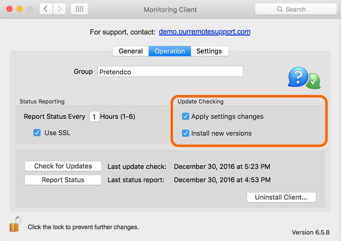 Mac: Update Checking