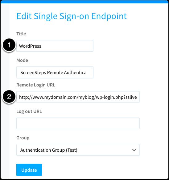 Enter Remote Login URL