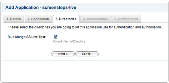 Configure directories & authorization