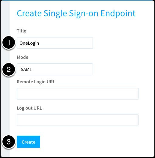 Create a SAML endpoint