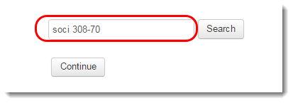 In the Search box, type part of the name of the source course.