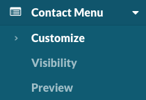 Contact Menu > Customize