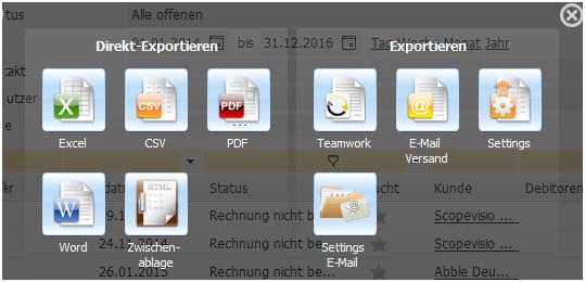 Exportformat auswählen