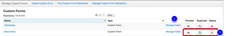 Managing Your Forms