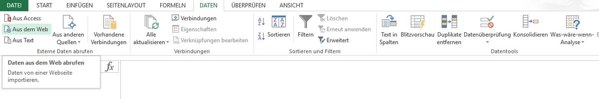 Vorgehen in Excel