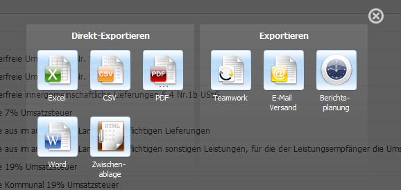 Exportfunktionen