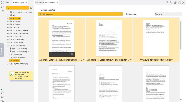 Dokumente zwischen Sammlungen verschieben und kopieren