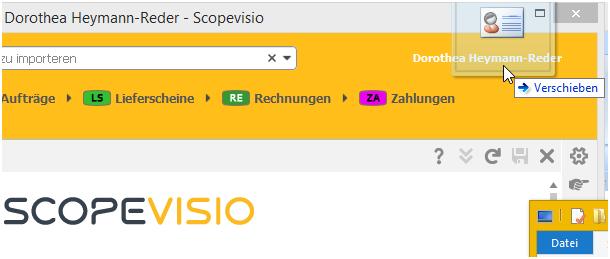 Visitenkarten in Scopevisio importieren