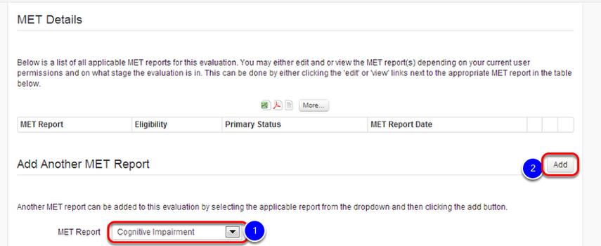 Adding a MET Report