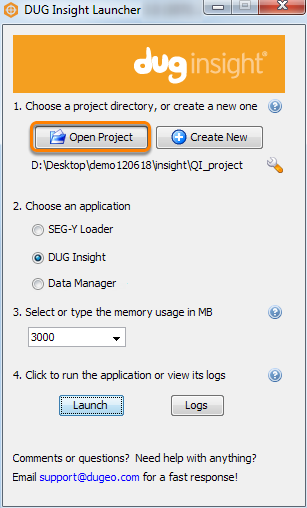 Open an existing project