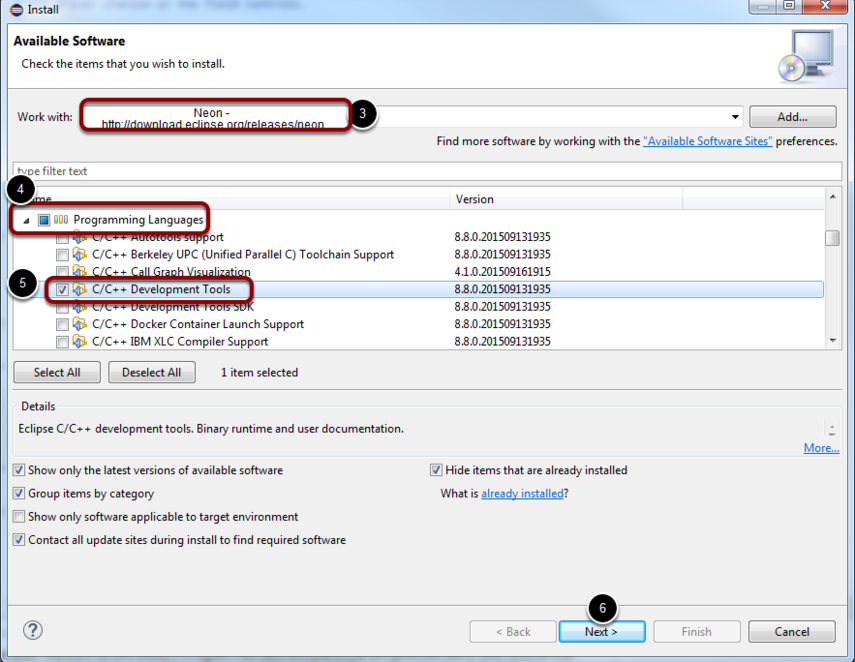 Install Eclipse C++ Development Tools