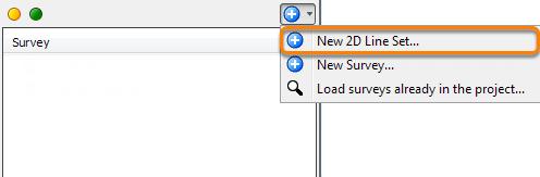 Creating a new 2D line set