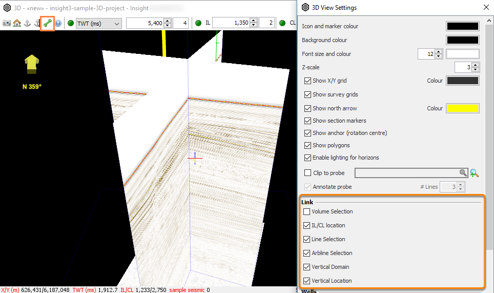 3D View linking options