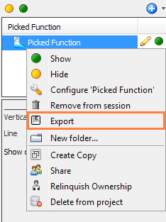 Export picked function