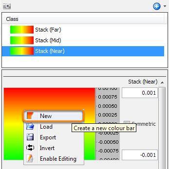 Create a new colourbar