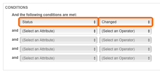 Workflow Rule Conditions: Status Changed