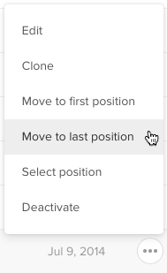 Move to last position