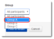Group A is selected.