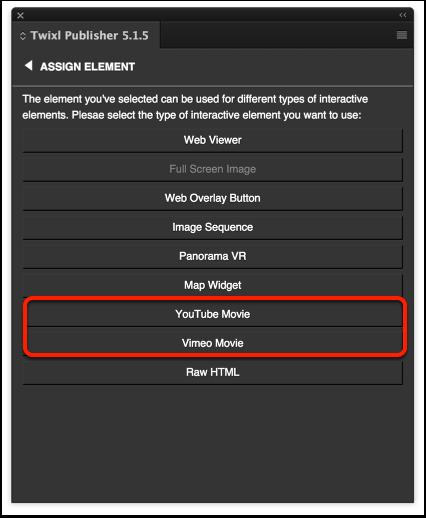 YouTube or Vimeo video