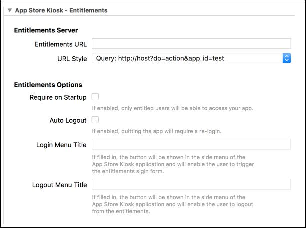 9. App Store Kiosk - Entitlements