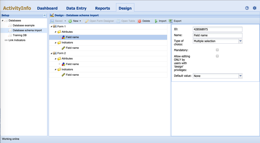 Validate that all your forms and form fields have been imported