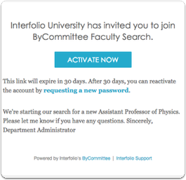Evaluating applicants through ByCommittee Faculty Search