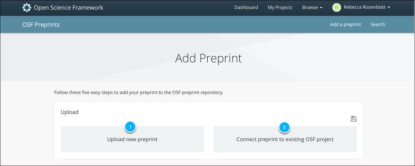 Add a Preprint