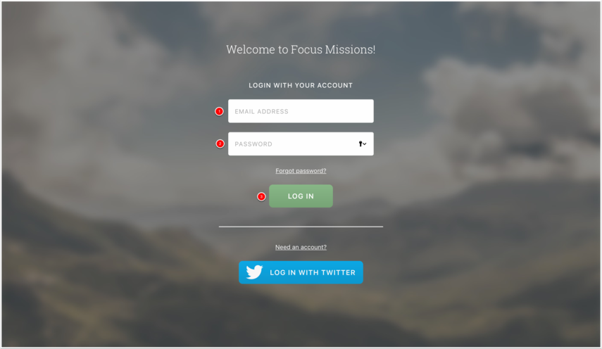 Sign In, or Create an Account