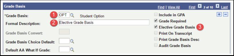 Grade Basis page
