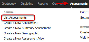 Find or Scan Assessments