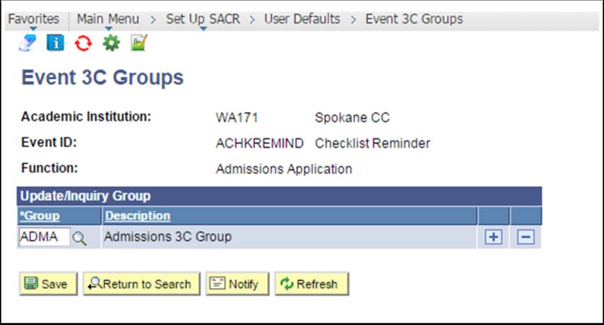 Event 3C Groups