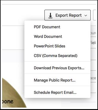 Export Report context menu