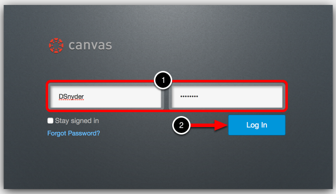 Step 1: Log In to Canvas