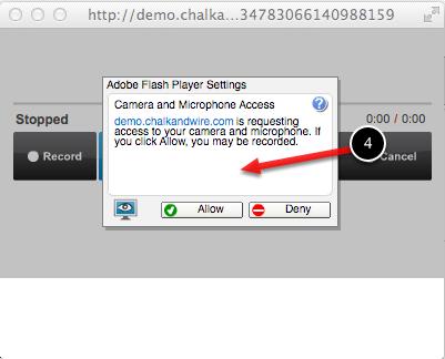 Step 3: Allow Flash Settings