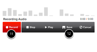 Step 5: Record Audio Comment