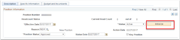 Description tab