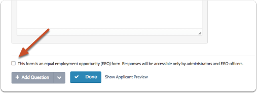 Indicate whether or not the form is an EEO questionnaire.