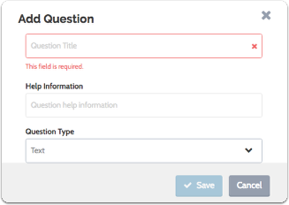Enter your question title and help information