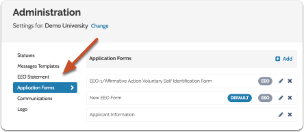 """Scroll down to """"Application Forms & EEO"""" at the bottom of the page"""