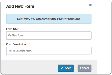 Give your form a title and brief description