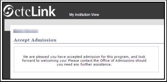 Acceptance Confirmation