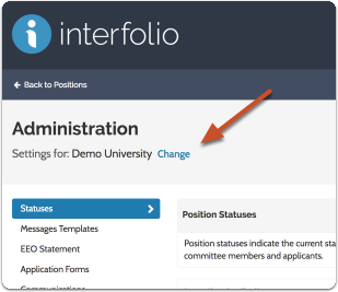 Make sure you are editing settings for the correct administrative unit or position