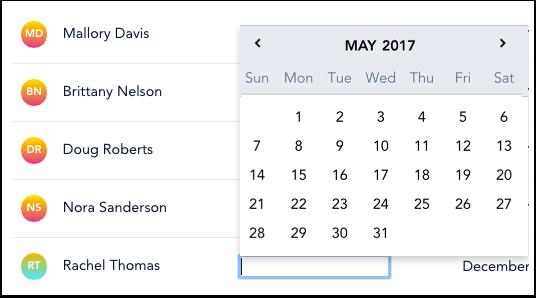 Sélectionner Date