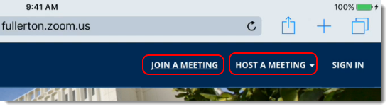 Tap on Host a meeting