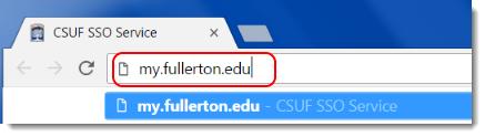 Navigate to my.fullerton.edu