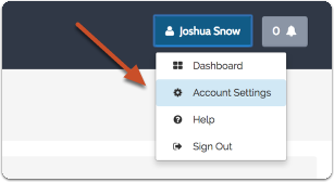 Navigate to Account Settings