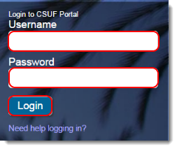 Login to the CSUF Portal