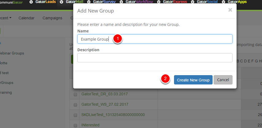 Adding a New Group